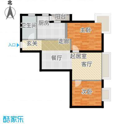 荟锦84.00㎡2-9层01户型2室1卫1厨