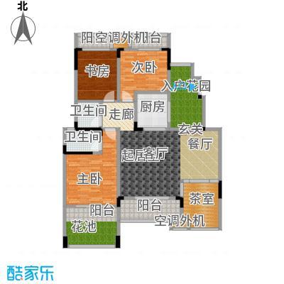 鸥鹏华府132.81㎡墅质洋房A-4户型3室2厅2卫1厨 132.81㎡户型3室2厅2卫