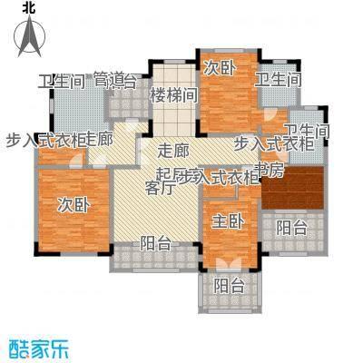 新城帝景别墅御江山B户型逾500平米二层户型3室2厅3卫