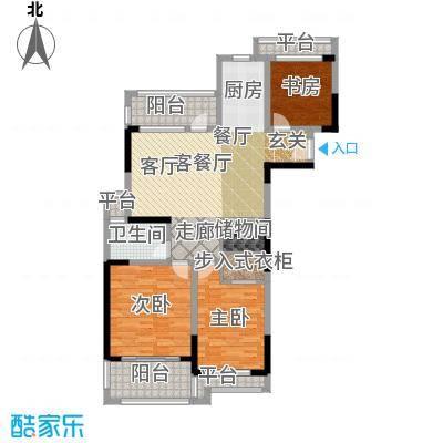 银河湾紫苑114.00㎡四期A4户型3室2厅1卫