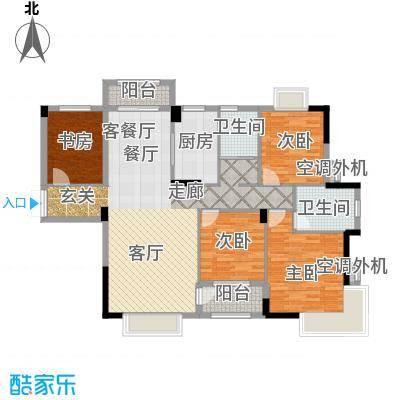 嘉业海棠湾135.28㎡A户型4室2厅2卫