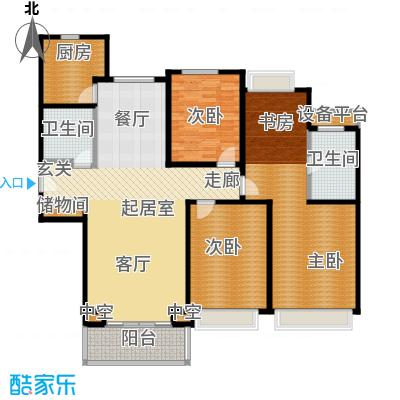 合生前滩一墅145.00㎡C2户型143-145平米户型3室2厅2卫