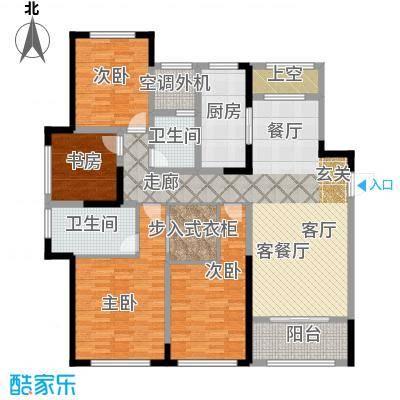 金地天际150.00㎡3号楼标准层D1户型4室2厅2卫