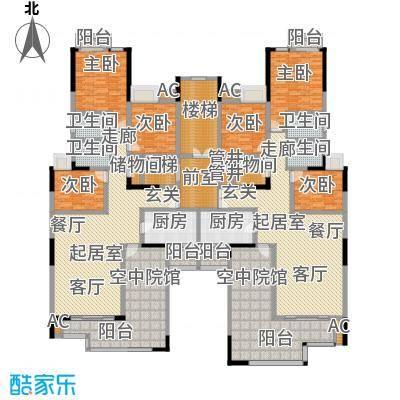 金易伯爵世家132.02㎡金易伯爵世家一期3幢标准层C1/C2户型3室2厅2卫1厨 132.02㎡户型3室2厅2卫