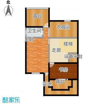 龙湖庄园三层 单层建筑面积86.92平米户型