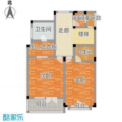 滨海湖A1二层平面图户型2室2厅1卫