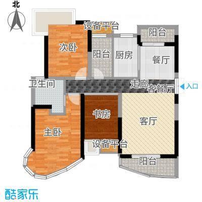 南昌铜锣湾广场112.29㎡1号楼A户型3室2厅2卫