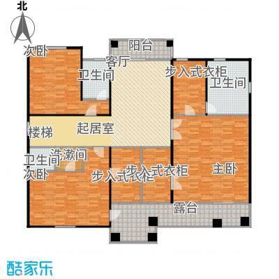 达观天下168.00㎡WFR-K户型二层改改9 3室1厅3卫户型3室1厅3卫