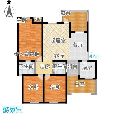 晋愉林畔神韵晋愉林畔神韵户型图C-2三室两厅两卫销售面积约120.85平米最大实得135.85平米(4/5张)户型10室