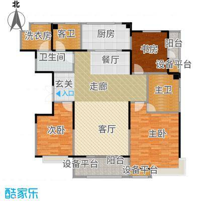 卫津领寓147.27㎡I户型 3室2厅2卫1厨户型3室2厅2卫