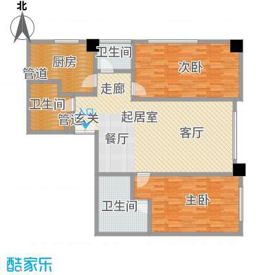 奥东18号146.03㎡奥东18号户型图1号楼M两室两厅两卫(1/6张)户型2室2厅2卫