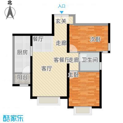 天津津南新城89.00㎡19-20号楼03户型2室1厅1卫1厨