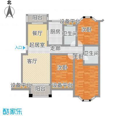 南天阳光南天阳光N06户型 三房两厅两卫 3室2厅2卫1厨户型