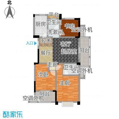 合峰汇114.00㎡合峰汇户型图A13室2厅2卫(1/3张)户型3室2厅2卫