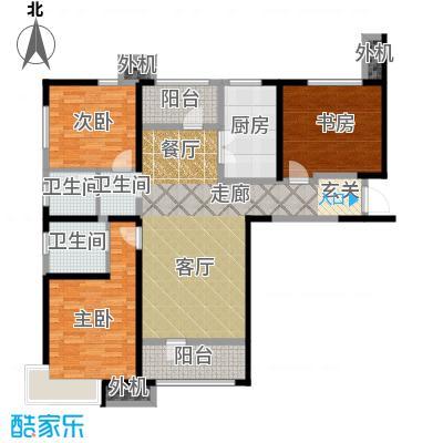 天津湾海景文苑140.00㎡B1户型3室2厅2卫