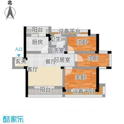 古城新境古城新境户型图三房-102㎡(6/17张)户型10室