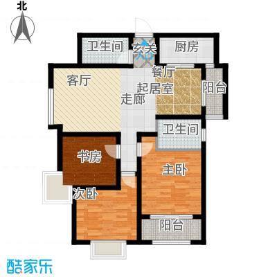 华城泊郡二期华城泊郡8号楼3室2厅2卫1厨 111.67㎡户型