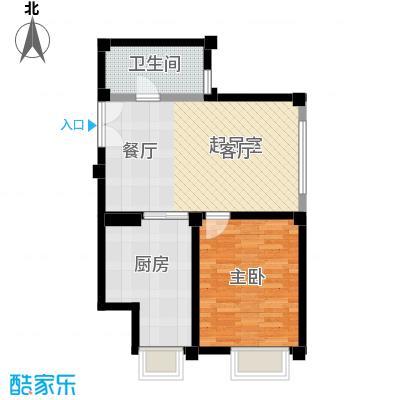 绿岛公寓B型一室一厅一卫户型1室1厅1卫