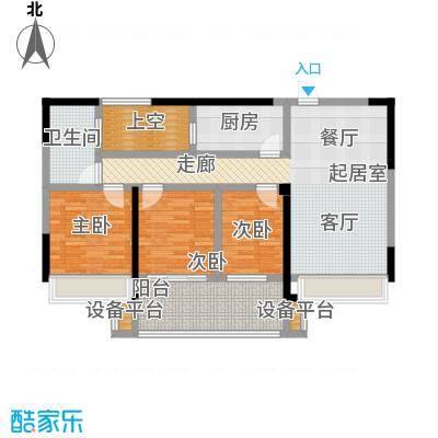金色领寓100.32㎡金色领寓户型图(5/5张)户型3室2厅1卫