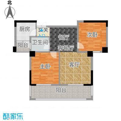 现代森林小镇金融SOHO垂直商业88.30㎡现代森林小镇三期CGO峰汇三期d2户型2室2厅1卫