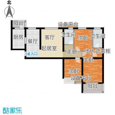 金旅城131.11㎡三室两厅两卫C3户型131.11平米户型