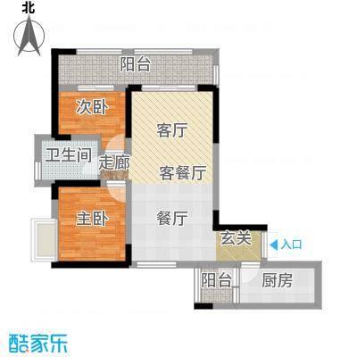 金融街融景城尚峰组团C4户型2室1厅1卫1厨