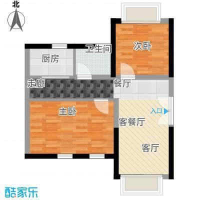 置业广场52.70㎡户型2室1厅1卫1厨