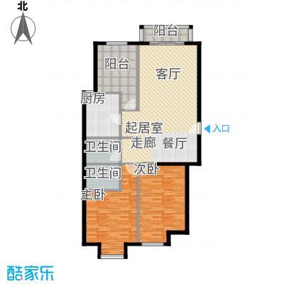 丽都壹号121.78㎡B01户型3室2厅2卫1厨户型3室2厅2卫