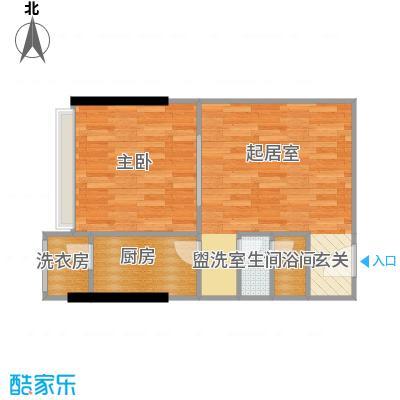 仁恒河滨花园54.00㎡E22/4号楼0户型1室1厅1卫