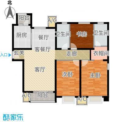 中建滨海壹号136.59㎡馥雅居 2号楼户型3室2厅2卫