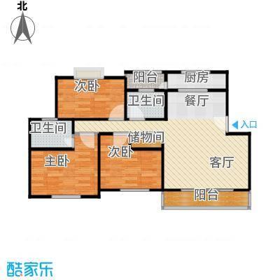 古城新境64.62㎡-户型3室1厅2卫1厨