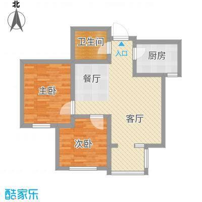 旷世新城91.53㎡C2/D2户型2室2厅1卫