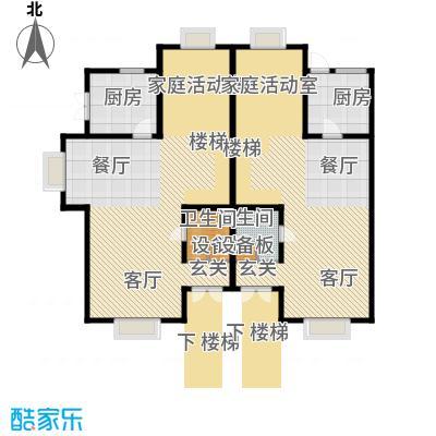 渤海度假村182.96㎡TH1一层户型10室