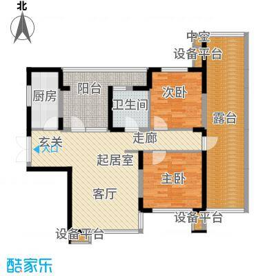 永泰枕流GOLF公寓95.94㎡D2 2室2厅1卫户型