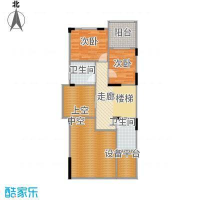 隆鑫72府170.71㎡B2套内总面积17071第二层户型2室2卫
