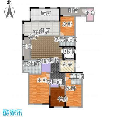 新城帝景190.00㎡190平米(A)4房2厅3卫户型4室2厅3卫