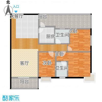 曲江易公馆126.48㎡A4户型3室2厅2卫
