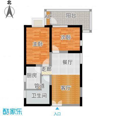 唐延鑫苑唐延鑫苑户型图A4、A5、B4、B571.94-83.73平米(2/5张)户型2室2厅1卫