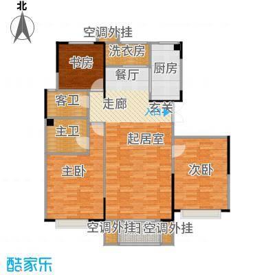 卫津领寓127.87㎡E户型 3室2厅2卫1厨户型3室2厅2卫