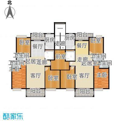 荔城花园户型2室4卫2厨