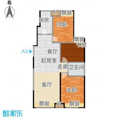 振业城中央130.60㎡10号楼 F户型3室2厅1卫