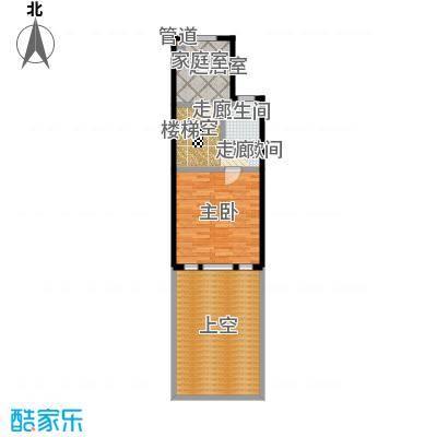 绿地壹中心104.00㎡A 香榭 2层平面图户型