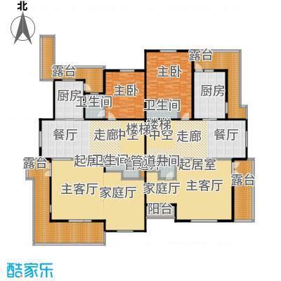 亚隆它山郡116.00㎡亚隆它山郡户型图J户型二层平面图(本层建筑面积116-117平米本套建总筑面积422-434平米)(12/34张)户型8室2厅8卫