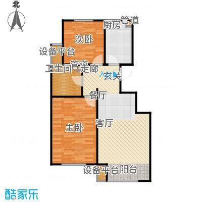 首创溪堤郡洋房户型2室1厅1卫