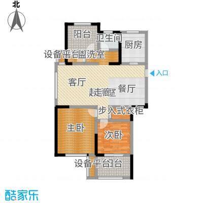 金色领寓106.97㎡金色领寓户型图(3/6张)户型2室2厅1卫