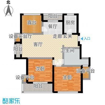 桂花园101.00㎡桂花园户型图三房二厅一卫-101平方米(3/3张)户型10室