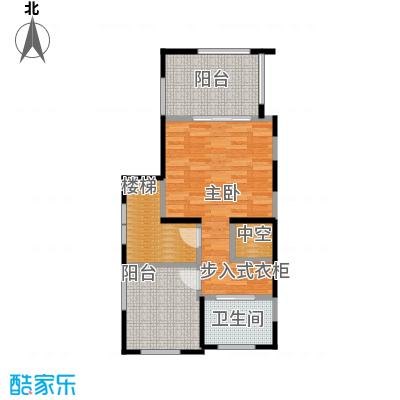 隆鑫72府60.58㎡A1套内总面积1497第三层户型1室1卫