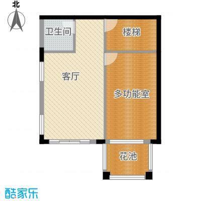 帝景山庄户型1厅1卫