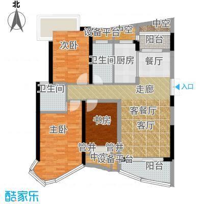 南昌铜锣湾广场110.48㎡5号楼A户型3室2厅2卫