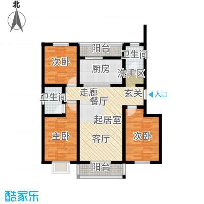 港东未来城117.32㎡B4户型3室2厅2卫